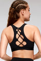 Fashionable Criss Cross Back Sports Bra