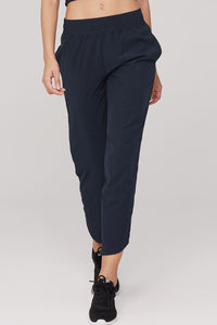 light & leaf Fashionable Trimmed Jogging Pants Navy