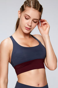 X Wing Design High Impact Sports Bra Navy