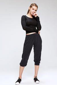 Women's Oversized Arabian Design After Workout Capris Casual Yoga Pants