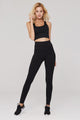 light & leaf Basic High Waist Polyester Yoga Pants Black