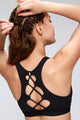 Complicated Criss Cross Back Mesh Pattern Front Sports Bra