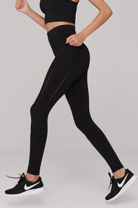 light & leaf Trendy Design Mesh Plated Workout Pants