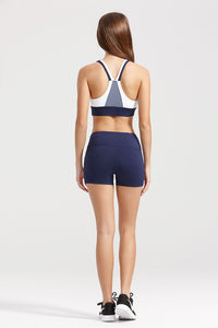 light & leaf active sports bra with short tights set
