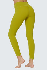 light & leaf fashion activewear super comfy yoga pants/leggings with hidden waist pocket warm olive