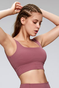 Plain Color High Quality Sports Bra in Pink