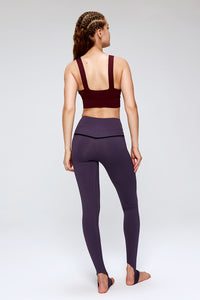 activewear stylish yoga pants in purple