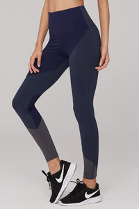 High Waist Nylon Duo Color Yoga Pants