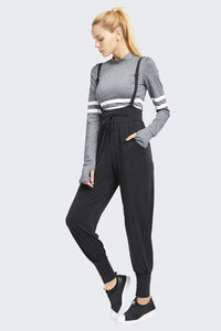 Loose Fit Tapered Overalls Jogger Pants