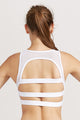Hollow back sexy stylish sports bra