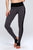 high waist trampled design yoga pants