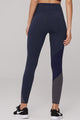 High Waist Nylon Duo Color Leggings