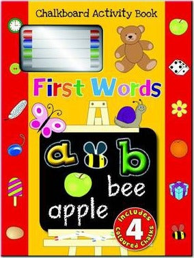 Chalkboard Activity Book - First Words - Kids Book Nook