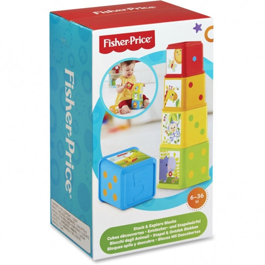 Fisher-Price Stack & Explore Blocks - Kids Book Nook