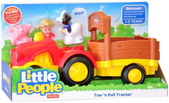 Fisher-Price Little People Tow 'n Pull Tractor - Kids Book Nook