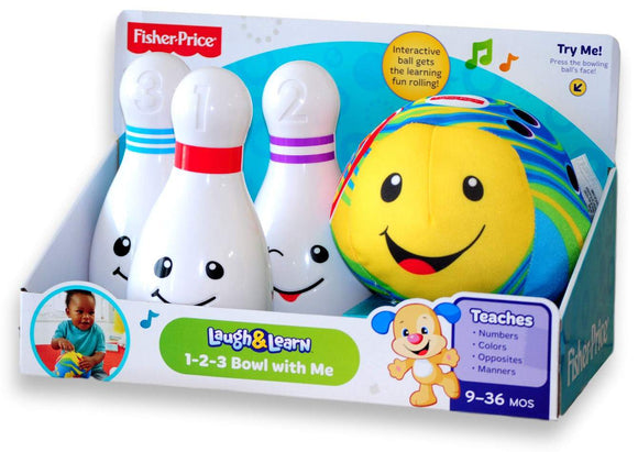Fisher-Price Laugh & Learn 1-2-3 Bowl With Me - Kids Book Nook