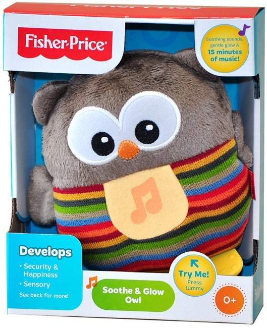 Fisher-Price Soothe & Glow Owl Brown - Kids Book Nook