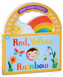 Peek-a-Boo Colours Red, Yellow, Rainbow Board Book - Kids Book Nook