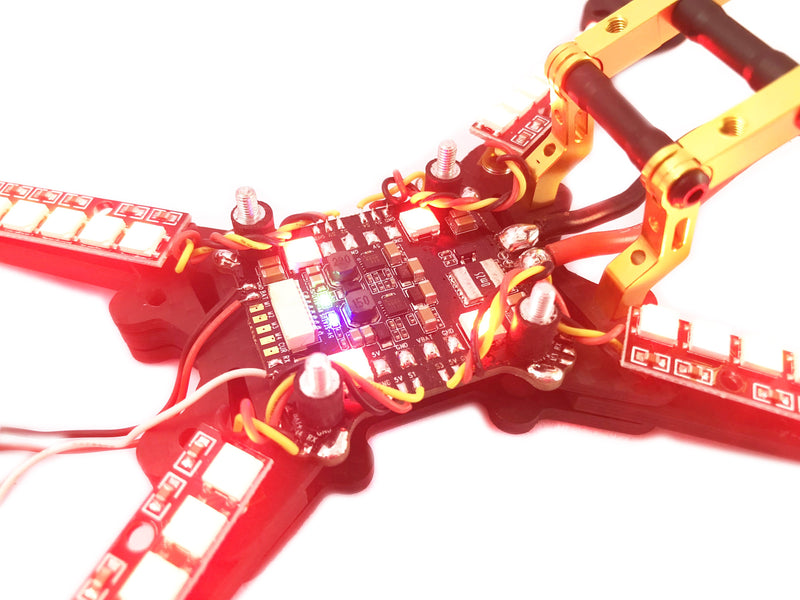 1PCS WS2812 Full Switchable Color Flash 8 LED Board - FLYWOO