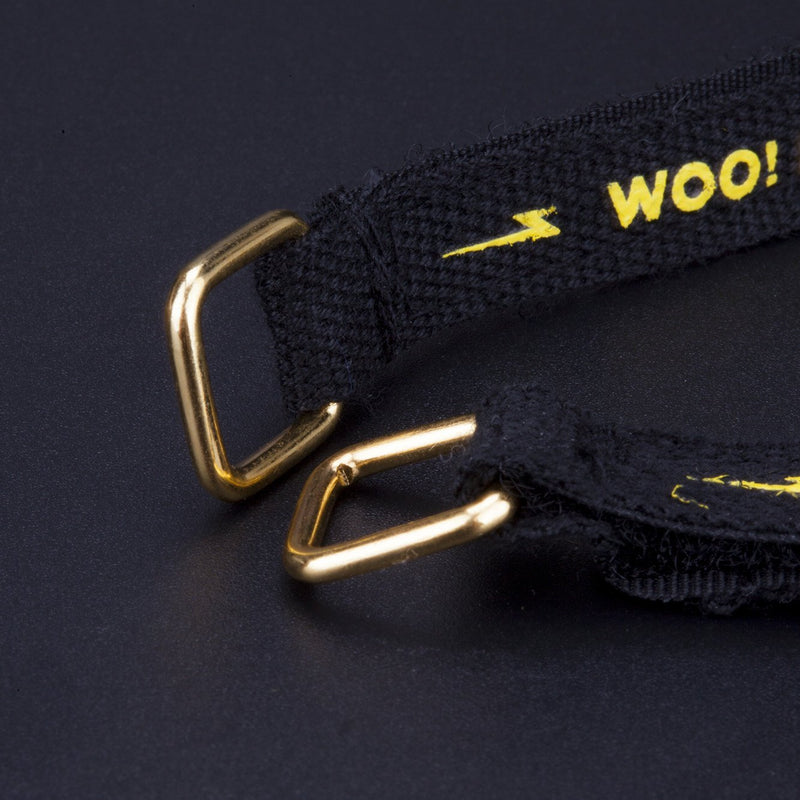 2pcs FLYWOO- High-strength Black Kevlar strap Golden Buckle - FLYWOO