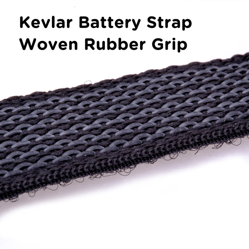 2pcs FLYWOO Kevlar Battery Strap w/ Woven Rubber Grip & Metal Buckle - 20mmx200\20mmX250 - FLYWOO