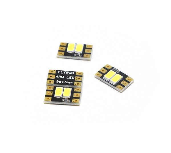 4 PCS FLYWOO Arm LED Board Light 2/4 Bits 9*15/20/25mm 2-6S - FLYWOO