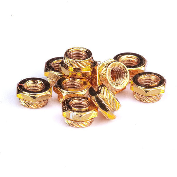 Flywoo M3 Press Hexagonal Nuts (20pcs - Gold ) - FLYWOO