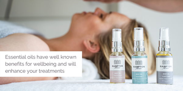 Essential oils have well known benefits for wellbeing and will enhance your treatments