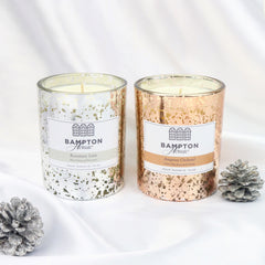 Sparkly christmas candles