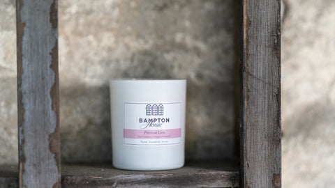 Primrose Lane candle on a wall aromatherapy and soy wax