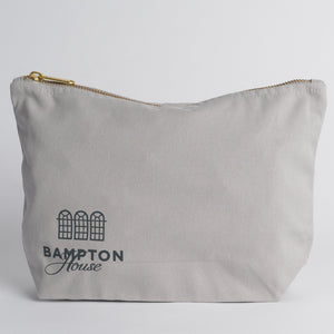 Grey Organic Cotton Wash Bag - Bampton House