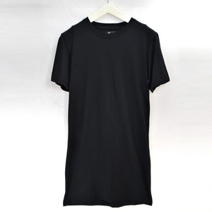 White Casual  extra long tee shirts for men