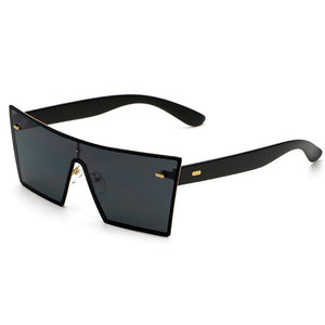 Flat top square sunglasses designer color coating Frameless