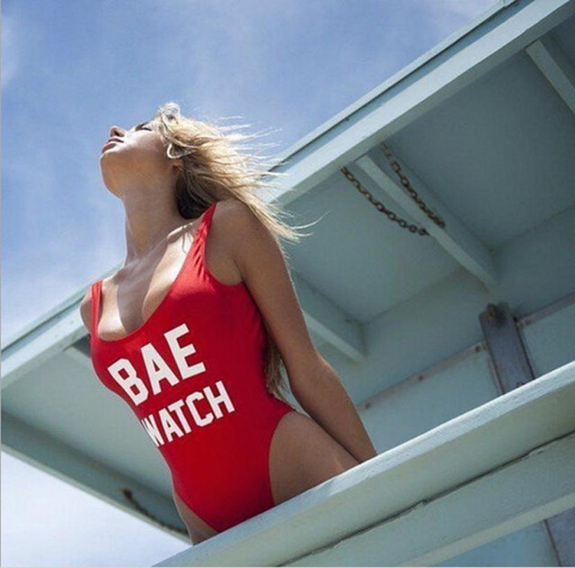 "Bodysuit ""BAE WATCH"" Swimsuit"