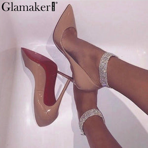 Sexy rhinestones double Crystal exaggerated anklets jewelry