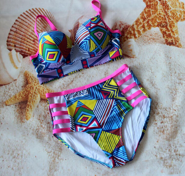 Push Up Padded Hight Waist Bikini