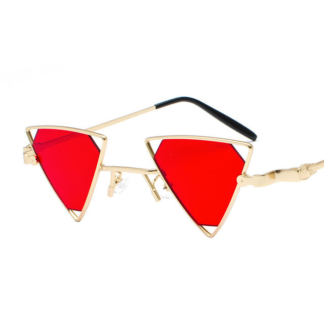 Fashion stylish  Steampunk Triangle Hollow-Out Sunglasses