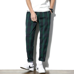 Casual Plaid Pants Streetwear