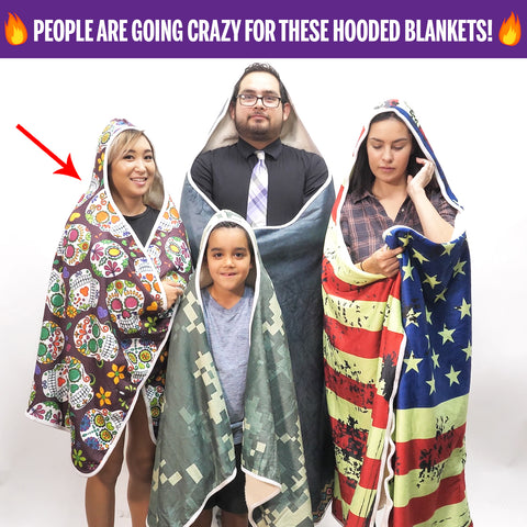 Hooded Blankets! - It's a hoodie - that's a blanket!  It's a blanket - that's a hoodie! Wrap up in style with these unbelievably cozy Hoodie Blankets!