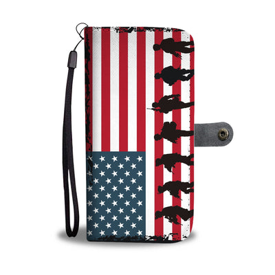 USA Military Tribute - Wallet Style Phone Case