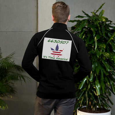 6630507 - It's Time America  - Bella + Canvas Piped Fleece Jacket - Unique Gifts Custom T-Shirt Shop Blankets Apparel