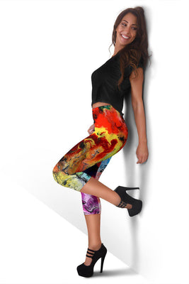 Abstract World - Women's Capris - Create Your Own Custom Apparel T-Shirts Home Decor Lifestyle The Harry Potter Store