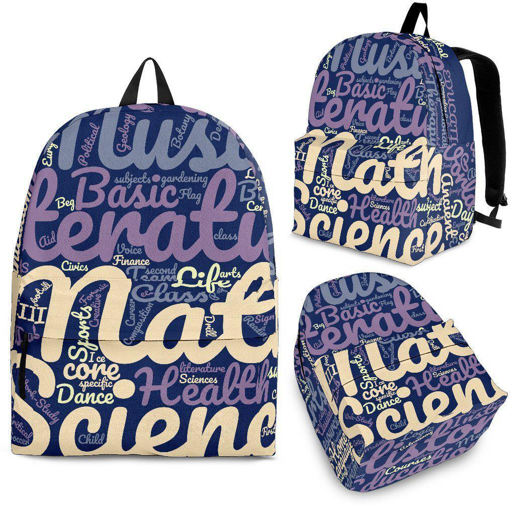 7b7410dcab All Subjects Designer Back-to-School Backpack Blue - Create Your Own Custom  Apparel