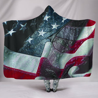American Flag - Hooded Blanket - Create Your Own Custom Apparel T-Shirts Home Decor Lifestyle The Harry Potter Store
