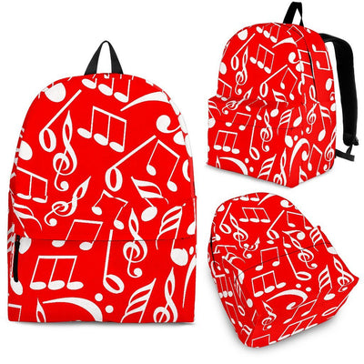 Back Pack Music Note Red - Create Your Own Custom Apparel T-Shirts Home Decor Lifestyle The Harry Potter Store