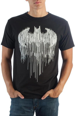 Batman Line Drip Black T-Shirt - Create Your Own Custom Apparel T-Shirts Home Decor Lifestyle The Harry Potter Store
