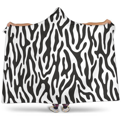 Black and White Animal Pattern Hooded Blanket - Create Your Own Custom Apparel T-Shirts Home Decor Lifestyle The Harry Potter Store