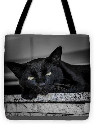 Black Cat - Tote Bag - Create Your Own Custom Apparel T-Shirts Home Decor Lifestyle The Harry Potter Store