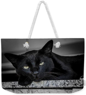 Black Cat - Weekender Tote Bag - Create Your Own Custom Apparel T-Shirts Home Decor Lifestyle The Harry Potter Store