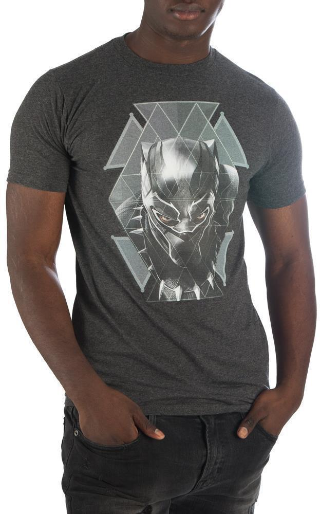 Black Panther Geometric Face T-shirt Tee Shirt - Create Your Own Custom Apparel T-Shirts Home Decor Lifestyle The Harry Potter Store